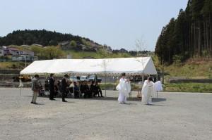 南三陸ポータルセンターの地鎮祭が執り行われました。