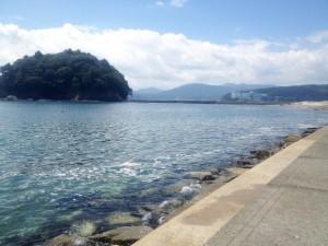 志津川湾と荒島