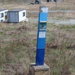 津波の避難看板が残る