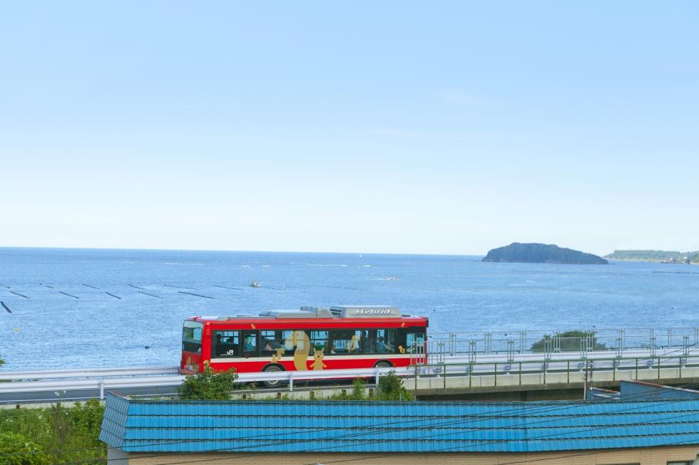 気仙沼線BRTバスが前谷地まで延伸いたしました!