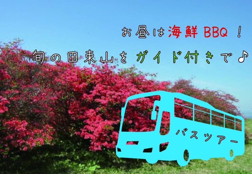 海鮮BBQ付き!<br/>ガイドと一緒に春の田束山を楽しむ観光ツアー