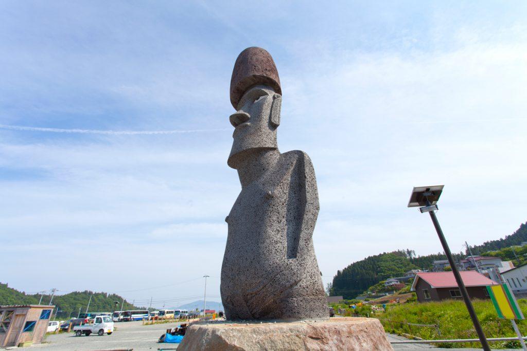 南三陸のモアイ像