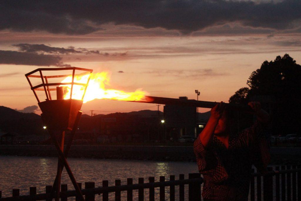 8月25日 志津川湾かがり火まつり福興市
