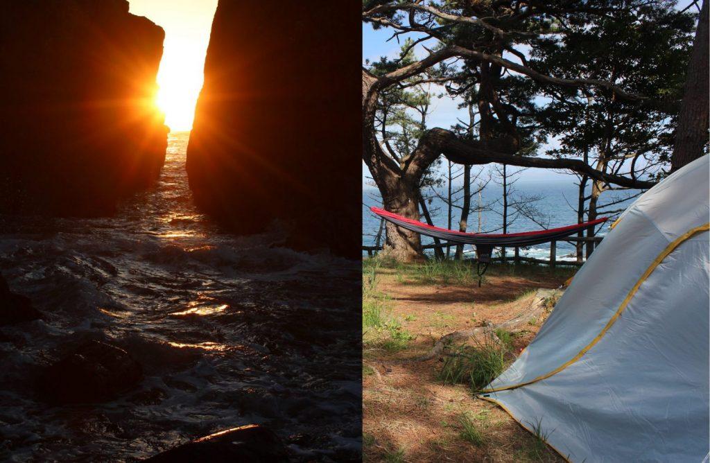 神割崎からの朝日・・・とキャンプ!