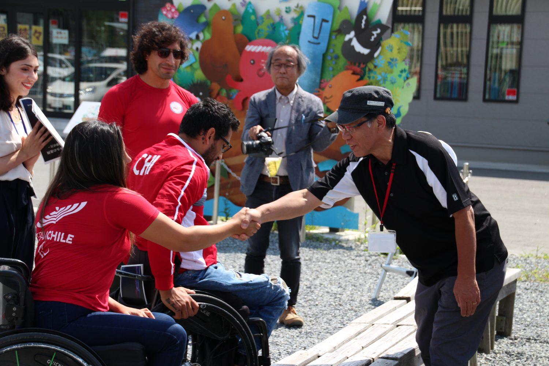 チリ共和国のパラカヌー選手団が来町されました!