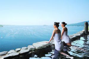 【未来の交流券】ホテル観洋の温泉から眺める景色で癒されよう!