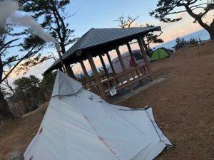神割崎キャンプ場で「冬キャンプ」にチャレンジ!